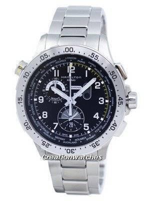 Hamilton Khaki Aviation Worldtimer Chronograph Quartz H76714135 Men's Watch