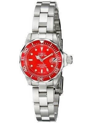 Invicta Pro-Diver 200M Quartz Red Dial 12522 Women's Watch