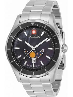 Invicta Pro Diver Moon Phase Black Dial Quartz 33462 100M Men\'s Watch