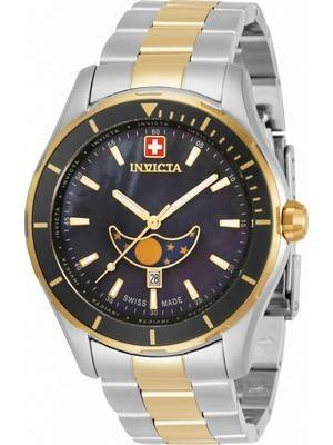 Invicta Pro Diver Moon Phase Black Dial Quartz 33466 100M Men\'s Watch