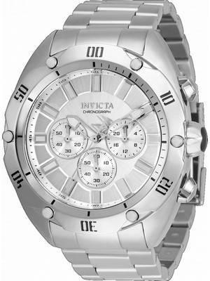 Invicta Venom Chronograph Silver Dial Quartz 33749 100M Men\'s Watch