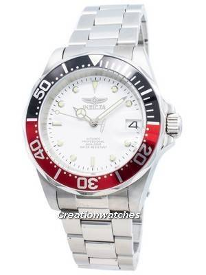 Invicta Automatic Pro Diver 200M Silver Tone Dial 9404 Men\'s Watch