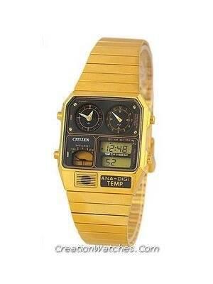 Citizen Ana-digi Thermometer Digital Dual Time JG2002-53E JG2002