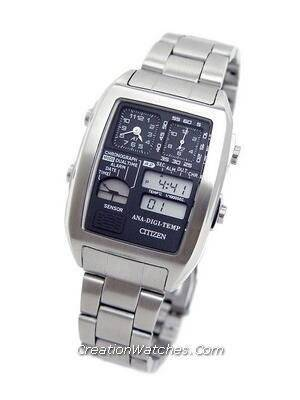 Citizen Ana-digi Thermometer Digital Dual Time Vintage JG2061-54E JG2061