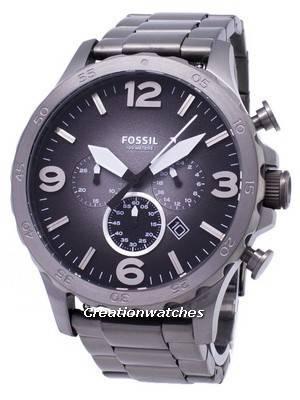 Fossil Nate Chronograph Smoke Grey Dial JR1437 Men's Watch