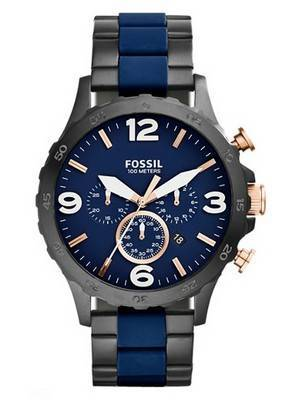 Fossil Nate Chronograph Quartz 100M JR1494 Men\'s Watch