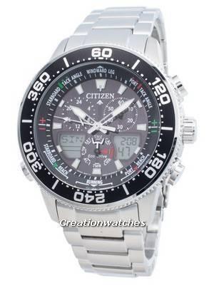 Relógio Citizen PROMASTER Marine Eco-Drive JR4060-88E Chronograph 200M masculino