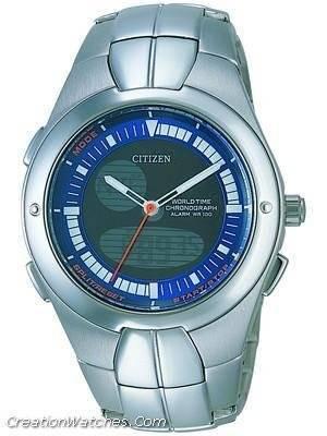 Citizen  Chronograph OXY World Time Alarm  JU0060-57L