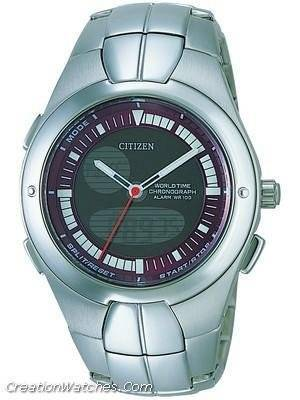 Citizen  Chronograph OXY World Time Alarm  JU0060-57X