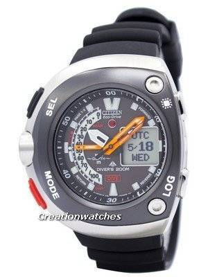 Citizen Diver Depth Meter Promaster Cyber Aqualand JV0020-04E Men\'s Watch