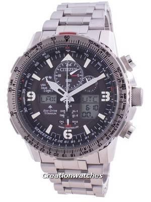 Relógio masculino Citizen Skyhawk Eco-Drive controlado por rádio JY8100-80E 200M