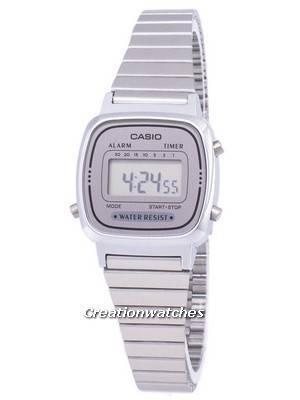 Casio Digital Stainless Steel Alarm Timer LA670WA-7DF LA670WA-7 Women's Watch