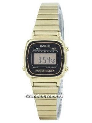 Casio Digital Stainless Steel Alarm Timer LA670WGA-1DF LA670WGA-1 Women\'s Watch