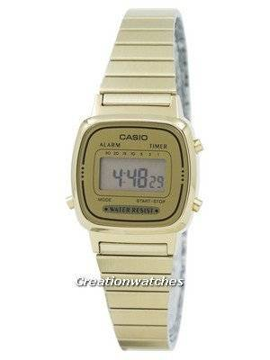Casio Digital Stainless Steel Alarm Timer LA670WGA-9DF LA670WGA-9 Women's Watch