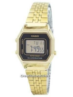 Casio Digital Quartz Stainless Steel Illuminator LA680WGA-1DF LA680WGA-1 Women's Watch