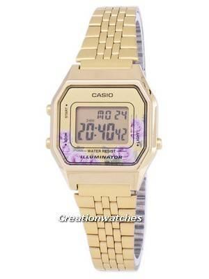 Casio Vintage Illuminator Quartz Digital LA680WGA-4C Women's Watch