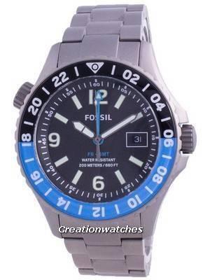 Fossil FB-GMT Curator Titanium Limited Edition Quartz LE1100 200M Men's Watch