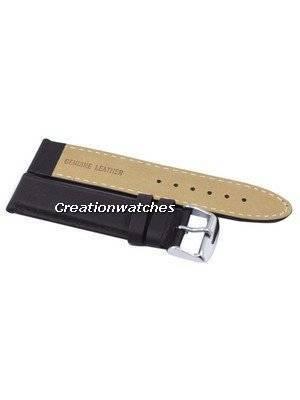 Dark Brown Ratio Brand Leather Strap 22mm