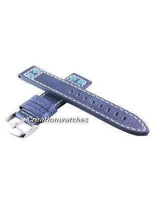 Blue Ratio Brand Leather Strap 20mm