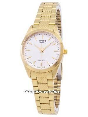 Casio Analog Quartz Gold Tone White Dial LTP-1274G-7ADF LTP-1274G-7A Women's Watch