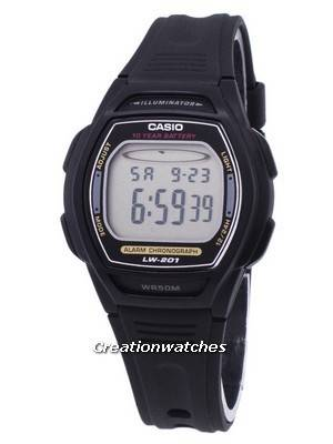 Casio Digital Alarm Chrono Illuminator LW-201-1AVDF Women\'s Watch