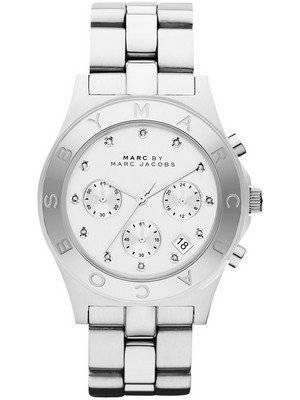 Marc By Marc Jacobs Blade Chronograph White Dial MBM3100 Women\'s Watch