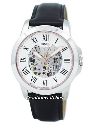 Fossil Grant Automatic Silver Skeleton Dial ME3101 Men's Watch