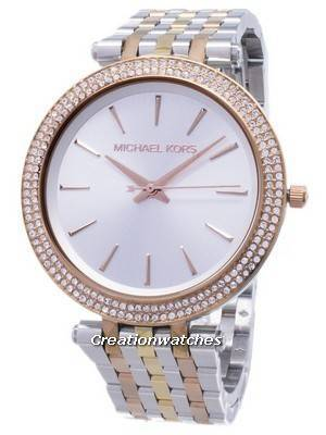 Michael Kors Silver Dial Tri-tone Crystals MK3203 Women's Watch