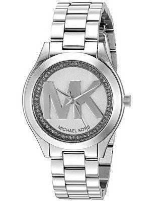 Michael Kors Mini Slim Runway Quartz Diamond Accent MK3548 Women's Watch