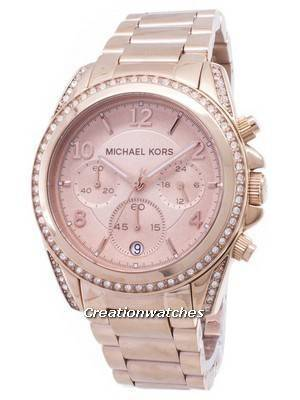 Michael Kors Rose Gold Plated Blair Glitz MK5263 Women\'s Watch