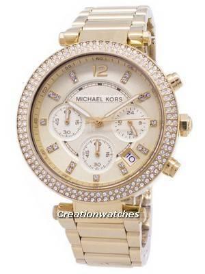 Michael Kors Parker Glitz Chronograph Crystals MK5354 Women's Watch