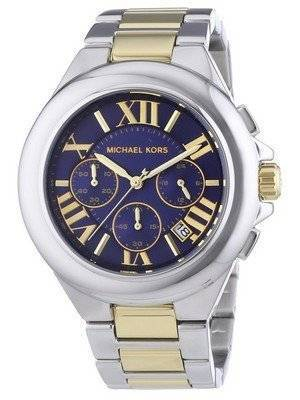 Michael Kors Camille Blue Dial Two Tone Chronograph MK5758 Ladies Watch