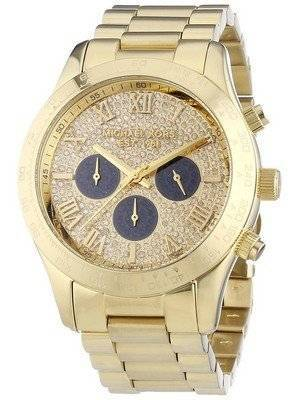 6158137ce6f14 Michael Kors Layton Glitz Gold Tone Crystal Dial MK5830 Women s Watch has  elementary