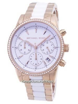 Michael Kors Ritz Quartz Chronograph Crystal Accent MK6324 Women's Watch