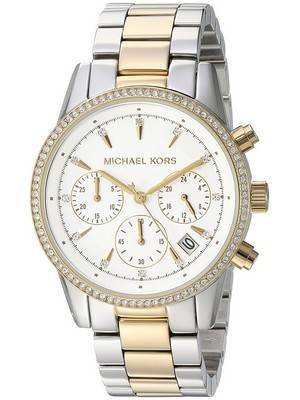 Michael Kors Ritz Chronograph Quartz Diamond Accent MK6474 Women's Watch