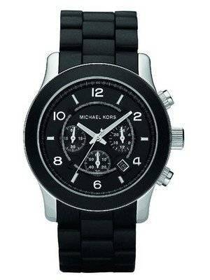 Michael Kors Runway Chronograph Black Polyurethane MK8107 Men\'s Watch