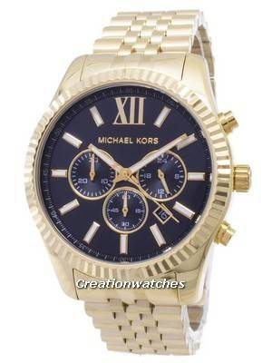 Michael Kors Lexington Chronograph Black Dial Gold-tone MK8286 Men's Watch
