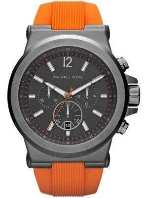 Michael Kors Dylan Chronograph Gunmetal Dial Orange MK8296 Men's Watch