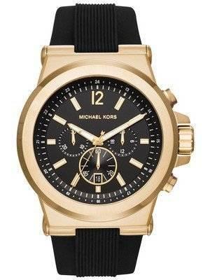 Relógio Michael Kors Dylan Black Dial Chronograph MK8445 dos homens