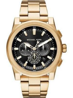 40429ef0320e5 The Michael Kors Grayson watch is crafted from Gold Tone Stainless Steel  Case with Gold ...