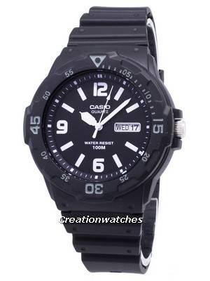 Casio Quartz Analog 100M Black Resin Strap MRW-200H-1B2VDF MRW200H-1B2VDF Men's Watch