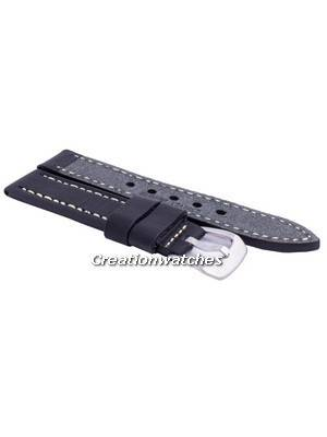 Ratio MS9 Black Leather Strap 22mm