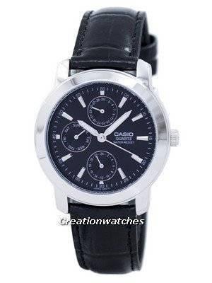 Casio Enticer Quartz Multi Dial Leather Strap MTP-1192E-1ADF MTP1192E-1ADF Men's Watch