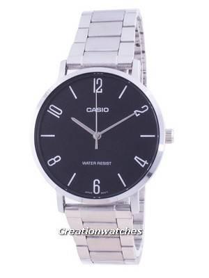 Casio Black Dial Stainless Steel Quartz MTP-VT01D-1B2 MTPVT01D-1B2 Men\'s Watch