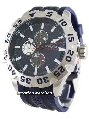 Nautica Men's N15578G BFD 100 Multifunction Navy Blue Resin Watch