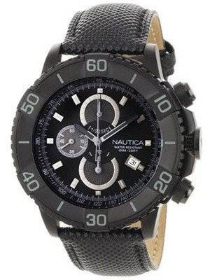 Nautica Men\'s N20062G NST 500 Black Polyurethane and Black Dial Watch
