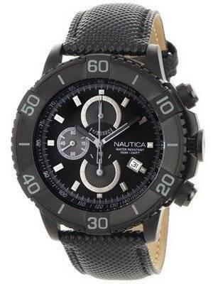 Nautica Men\'s N20062G NST 500 Black Polyurethane and Black Dial Watch
