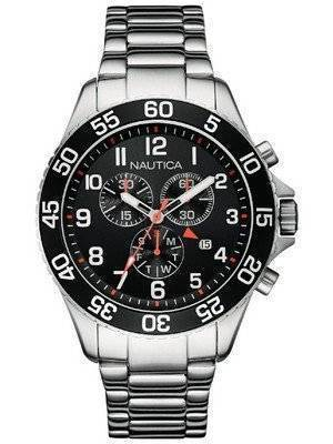 Nautica Chronograph Black Dial Date Display NAI17509G Men\'s Watch