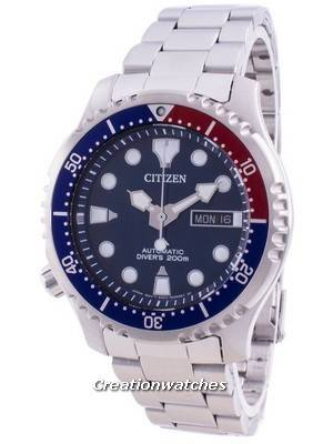 Relógio masculino Citizen Promaster Diver com mostrador azul automático NY0086-83L 200M
