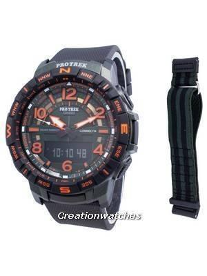 Relógio Casio PROTREK Quad Sensor PRT-B50FE-3 - Bússola digital de quartzo para homem